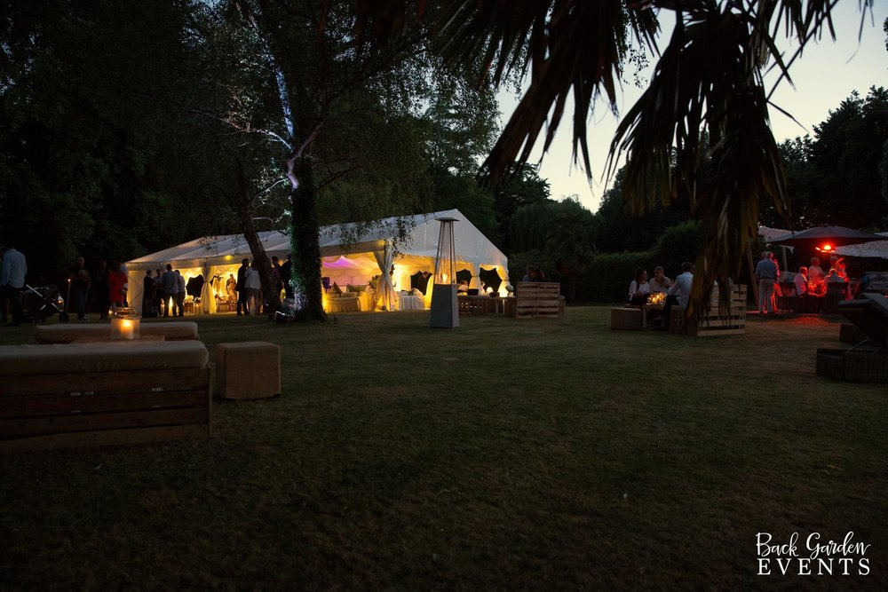 Marquee Back Garden Event Party
