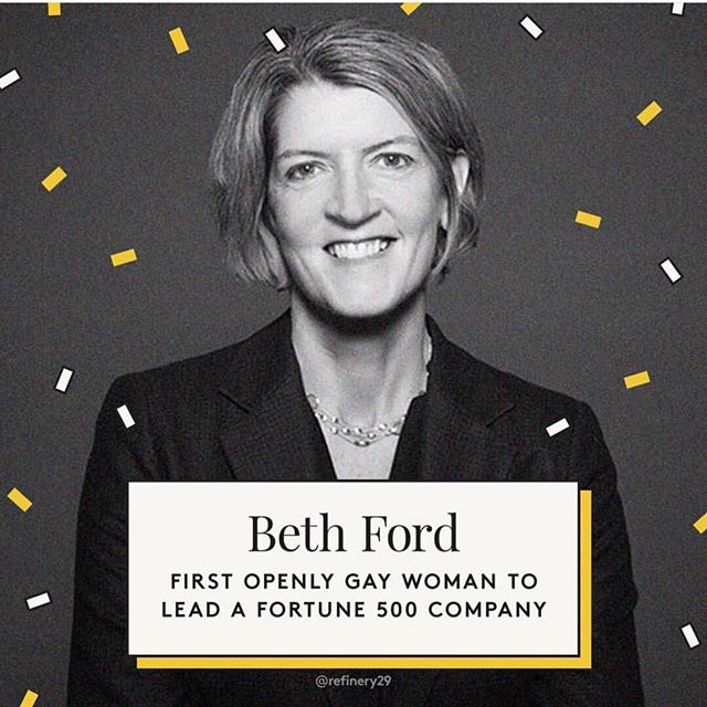 PSA: We are starting a new Instagram trend! Every week we will be posting someone that we think everyone should know about. We will also put links in our bio to articles about that person. This week is Beth Ford! Be sure to read about her 😁. 📷 @refinery29