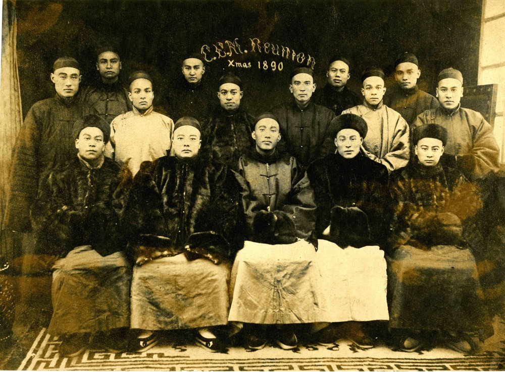 """A reunion of the [CEM] students in China, Christmas, 1890,"" Thomas E. LaFargue Papers, 1873-1946, 2-1-4, courtesy Manuscripts, Archives, and Special Collections, Washington State University Libraries."