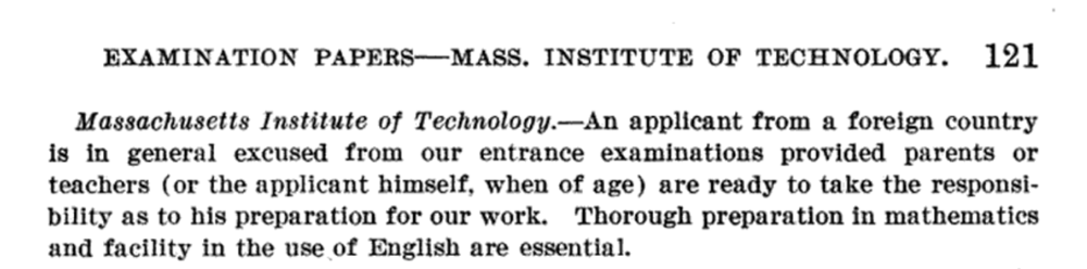 From John Fryer, Admission of Chinese Students to American Colleges, U.S. Government Printing Office, 1909.