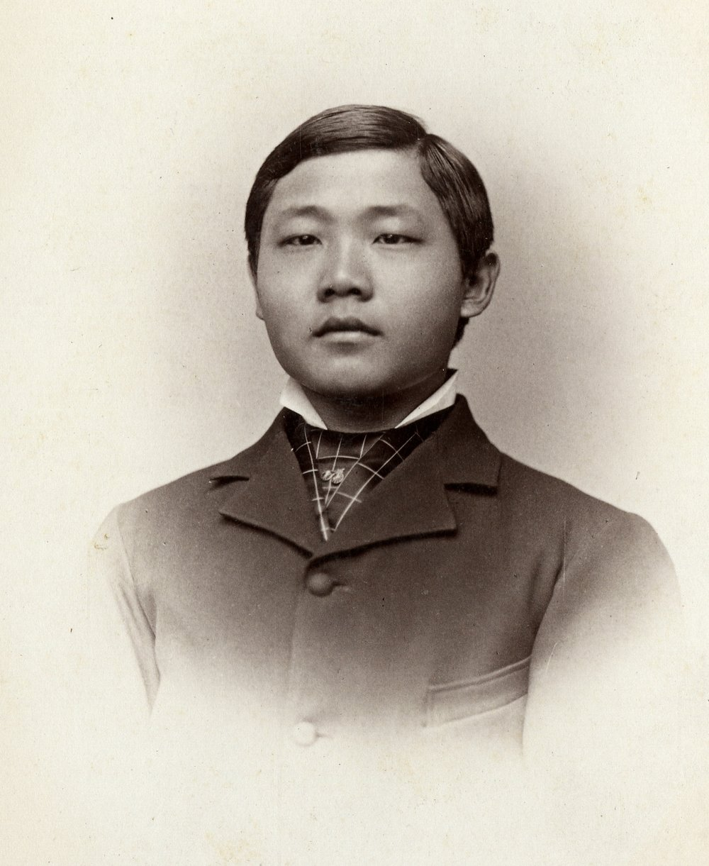 Photograph of YC Kwong, ca. 1878, courtesy of Williston Northampton School Archives.