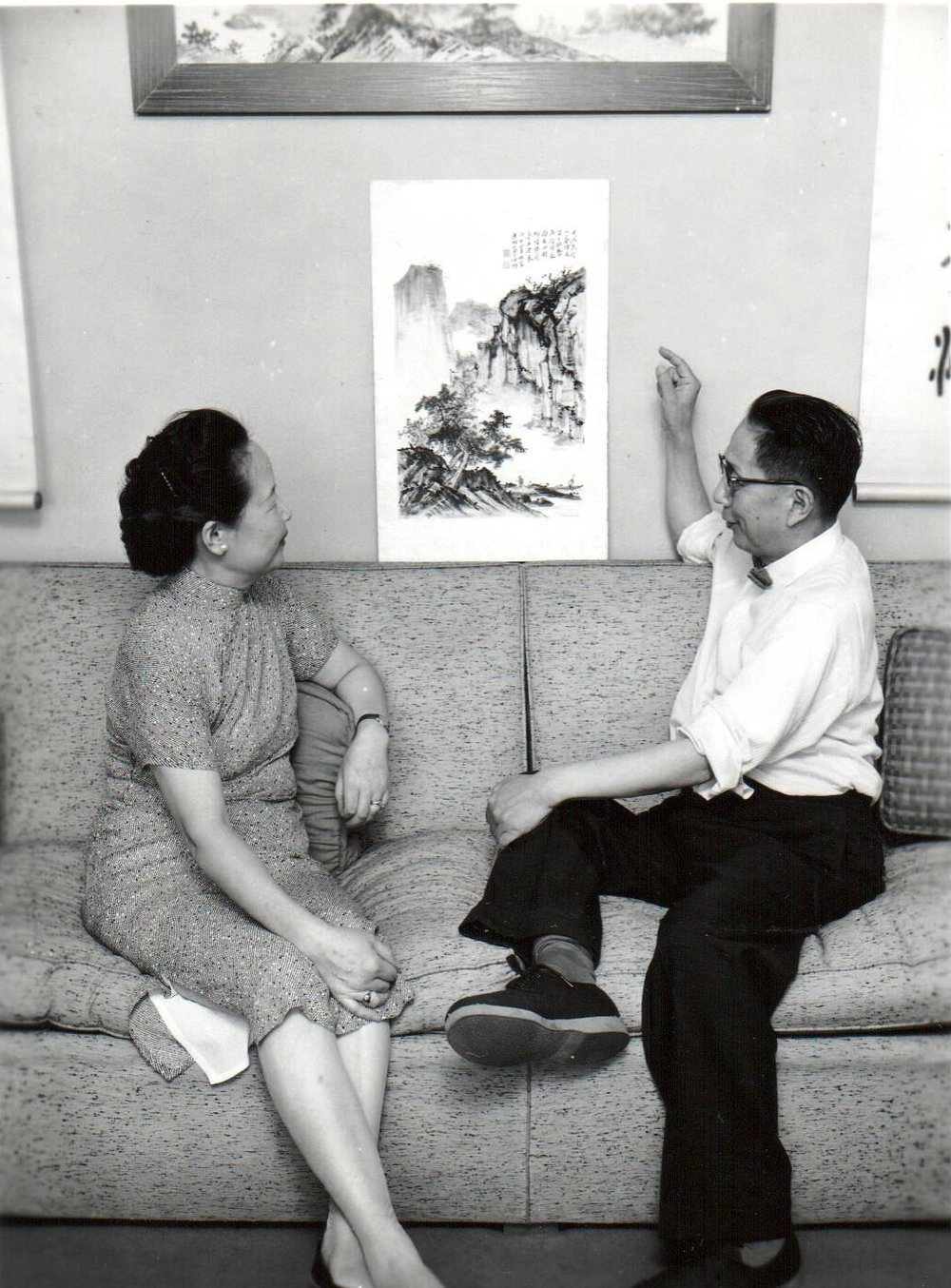 Showing new painting to my mother.jpg
