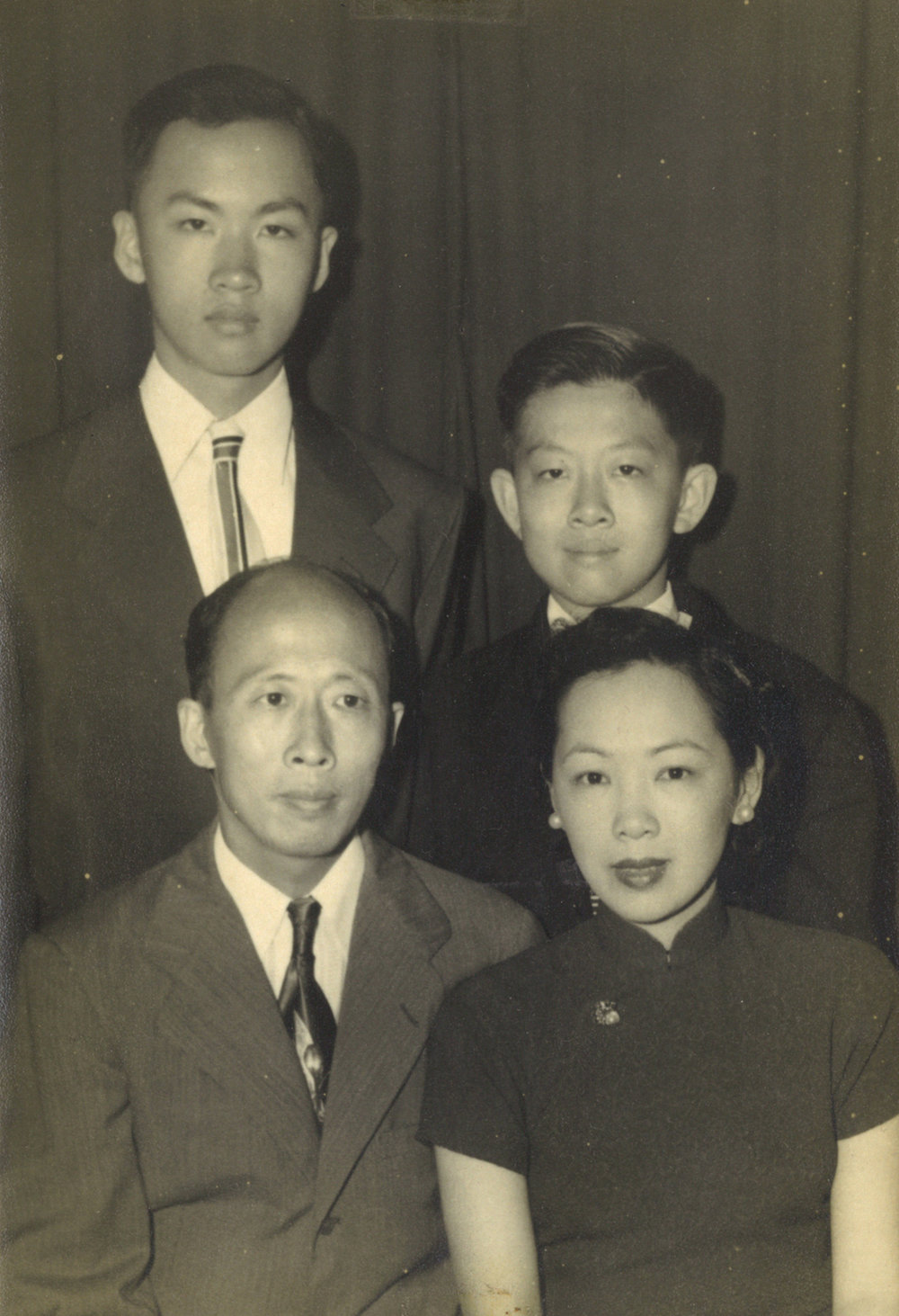 CH Lam with wife and sons