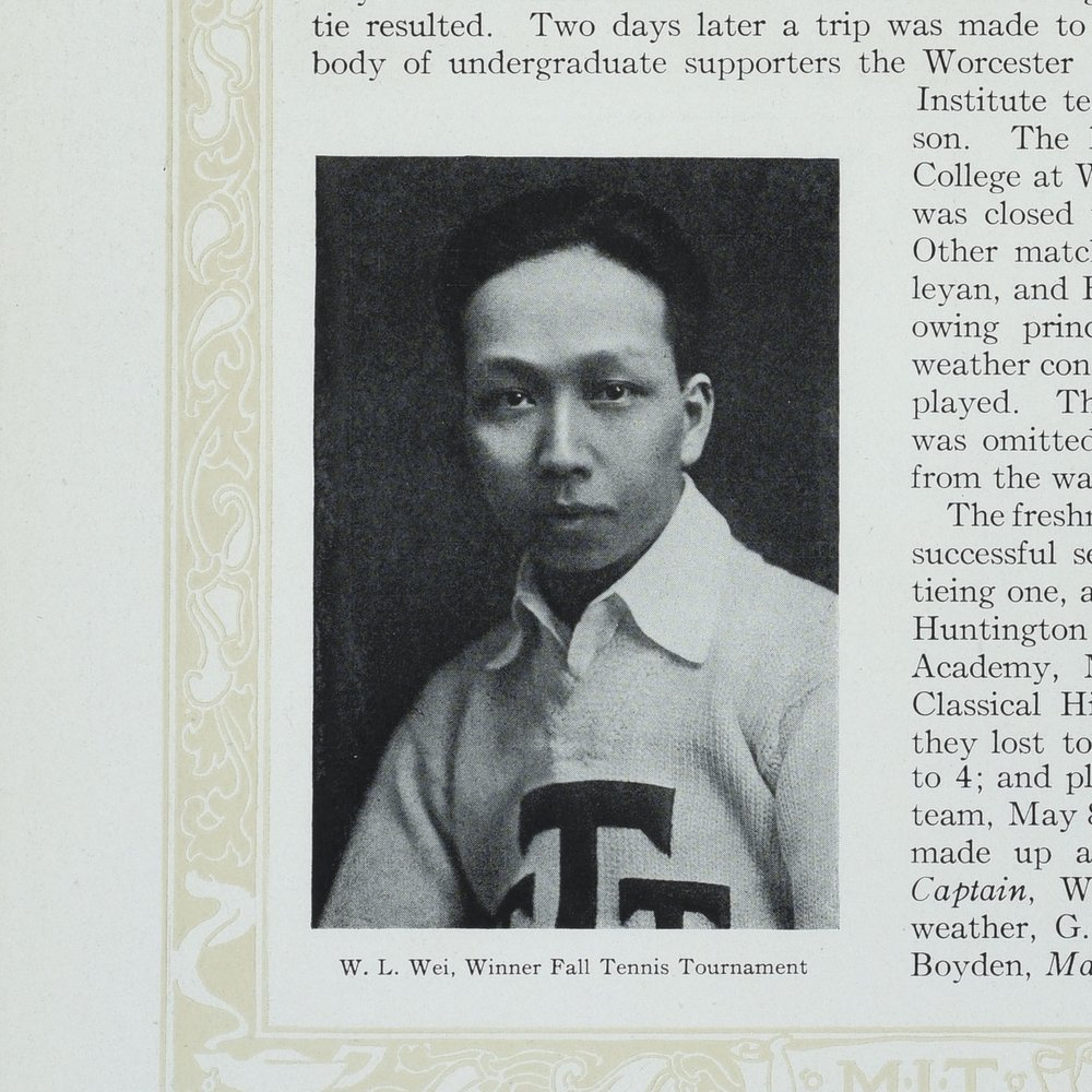 WL Wei, Technique 1919. Courtesy MIT Archives and Special Collections.