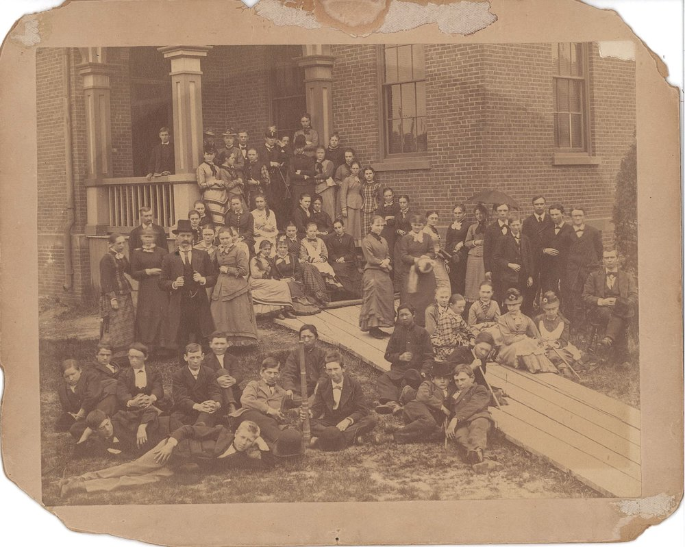 Sik at the Holyoke Public High School ca. 1878. Image courtesy the Holyoke History Room of the Holyoke Public Library, Holyoke, Massachusetts.
