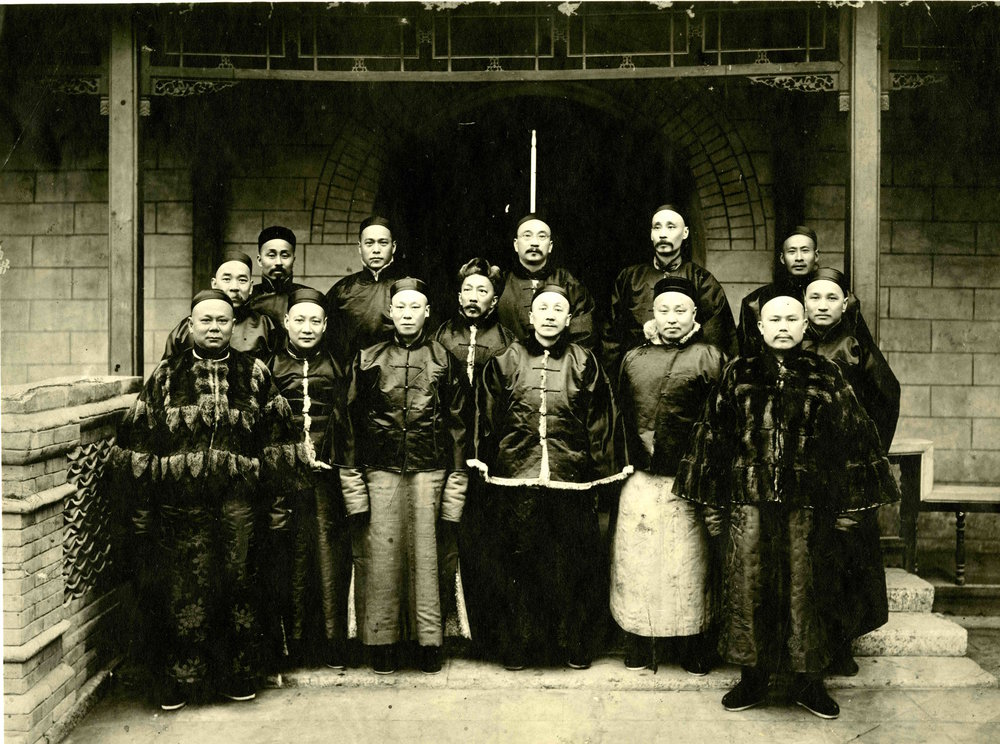 A reunion of the Chinese Educational Mission students in China, 1905.2-1-8. tif. Thomas E. LaFargue Papers, 1873-1946, courtesy Manuscripts, Archives, and Special Collections (MASC), Washington State University Libraries. Fong is second from left in front row.