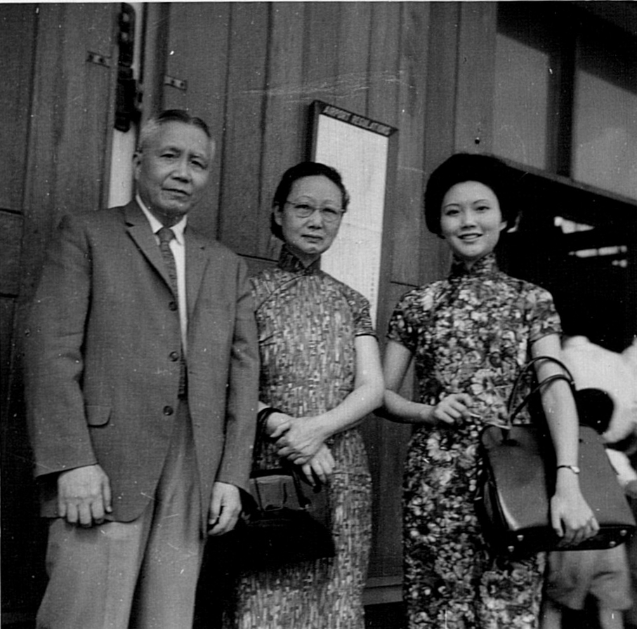 Han Ho and Peggy reunited with Lulu in HK, c. 1963
