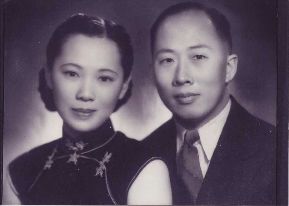 CH Lam and WK Au, 1934. Courtesy Shona Lam.