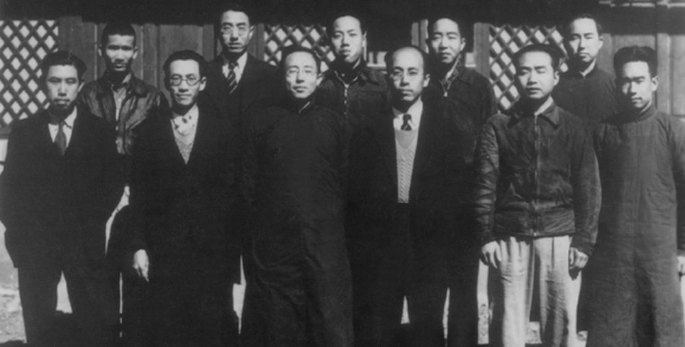 Tsinghua wireless electrical research institute, Kunming. ca. 1938. CK Jen is front row, third from left.