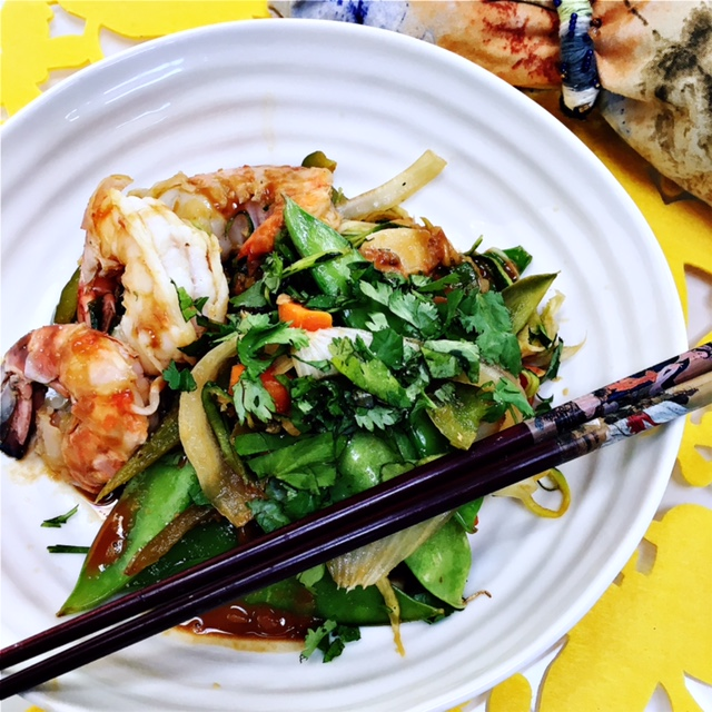 Clean, quick and simple Asian flavors.