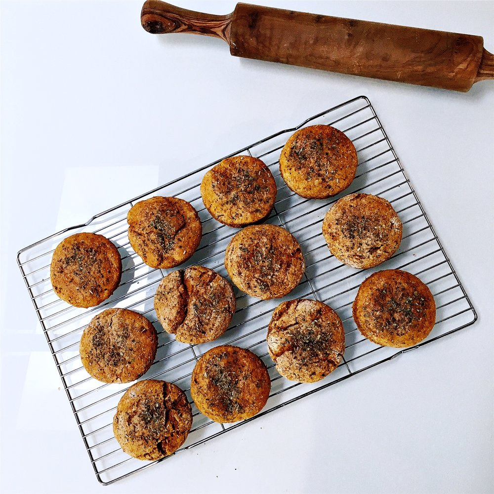 sweet potato biscuits on cooling rack.jpg