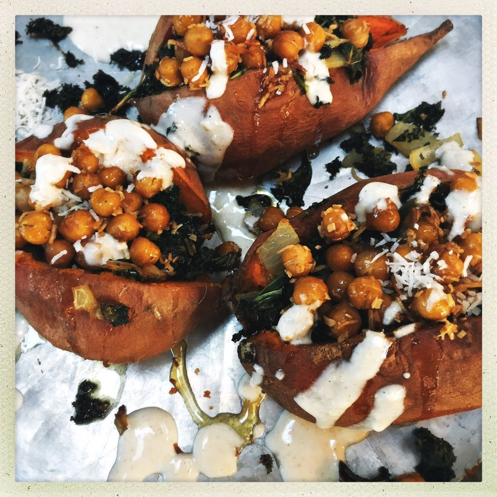Toasted coconut chickpea & kale stuffed sweet potatoes2.jpg