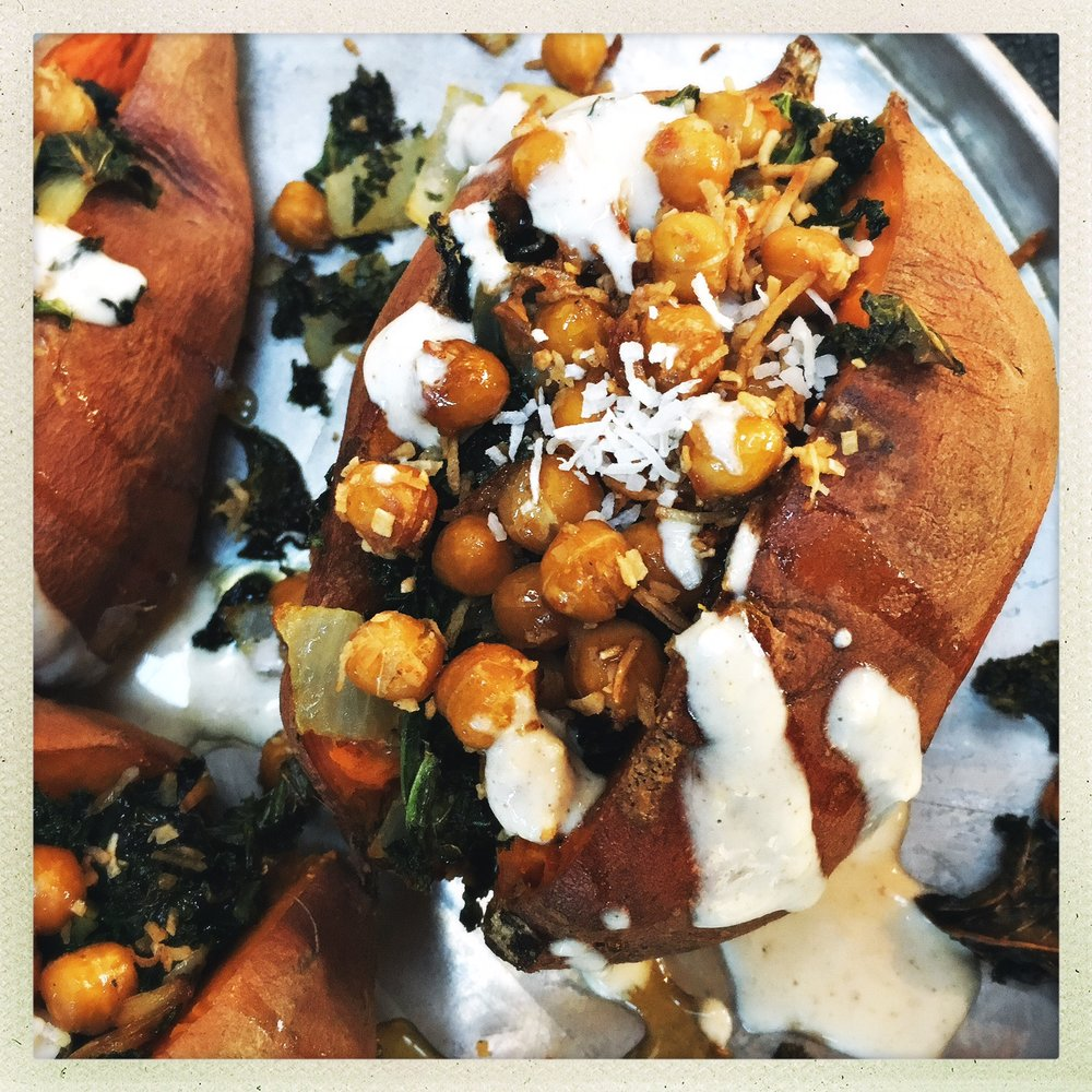 Toasted coconut chickpea & kale stuffed sweet potatoes4.jpg