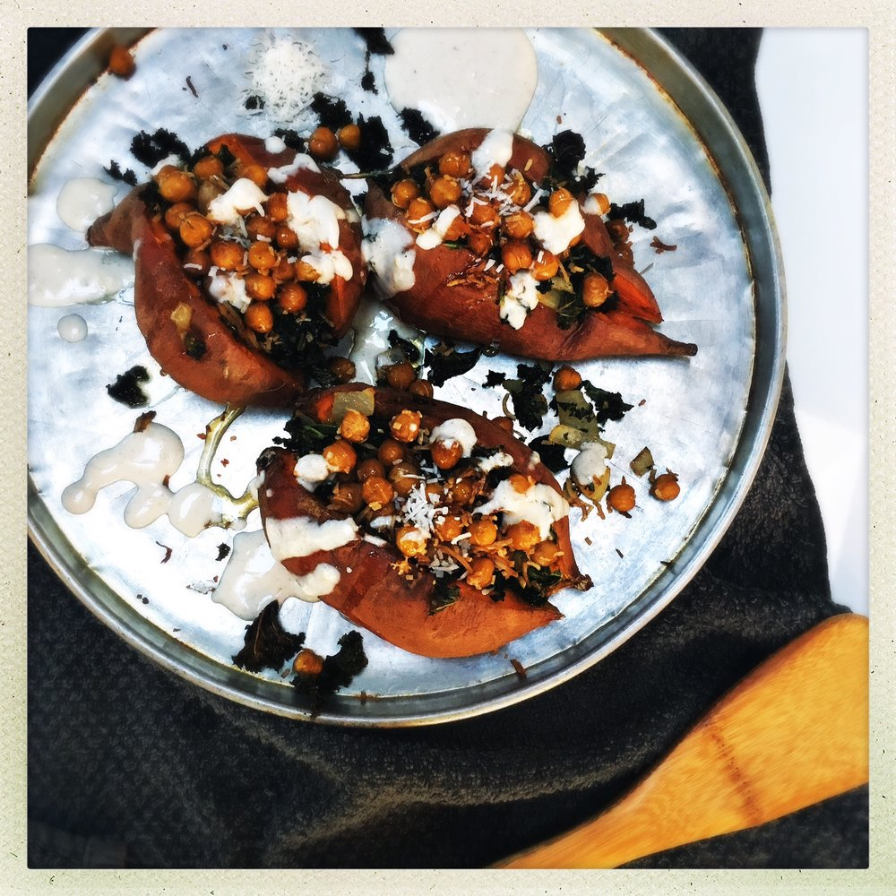 Toasted coconut chickpea & kale stuffed sweet potatoes5.jpg