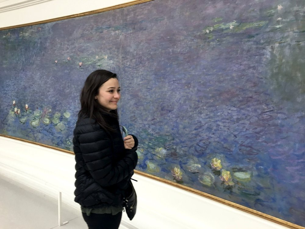 I love the look on my face in this blurry, imperfect photo. I went to Paris and my only agenda was to see Claude Monet's giant water lilies. They were overwhelming and awe-inspiring. I am so thankful for this moment.