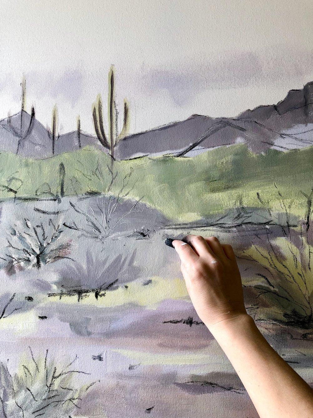 Laurie Anne Art purple desert process