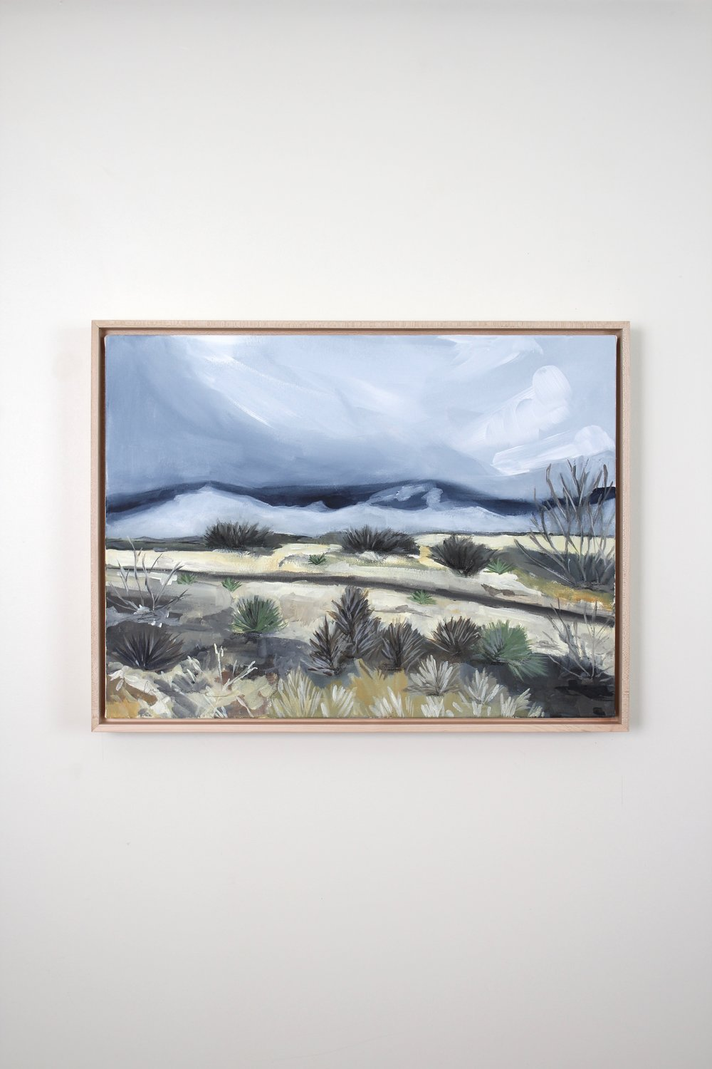Laurie Anne Art stormy desert painting