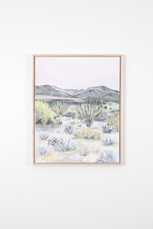 Laurie Anne Art desert blush painting