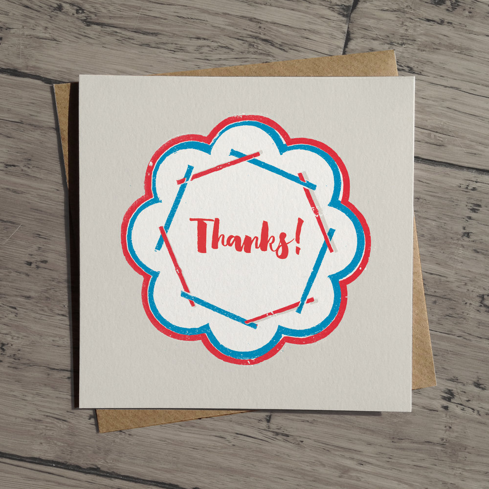 Thanks card: WW01