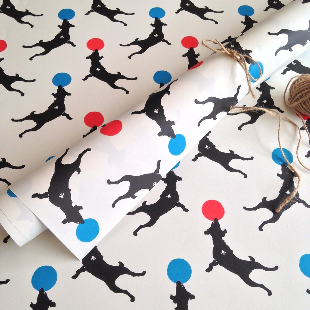Dog wrapping paper: WP_JJ_01