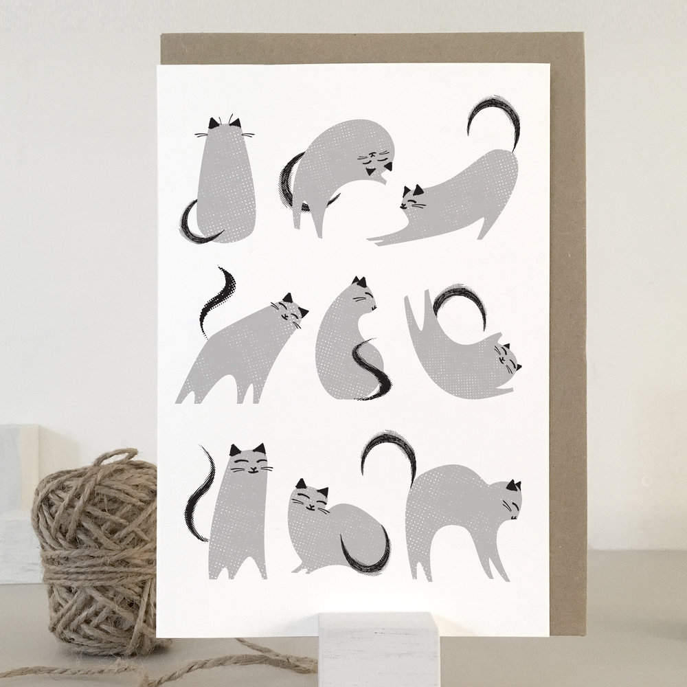 Grey cats card: KC01