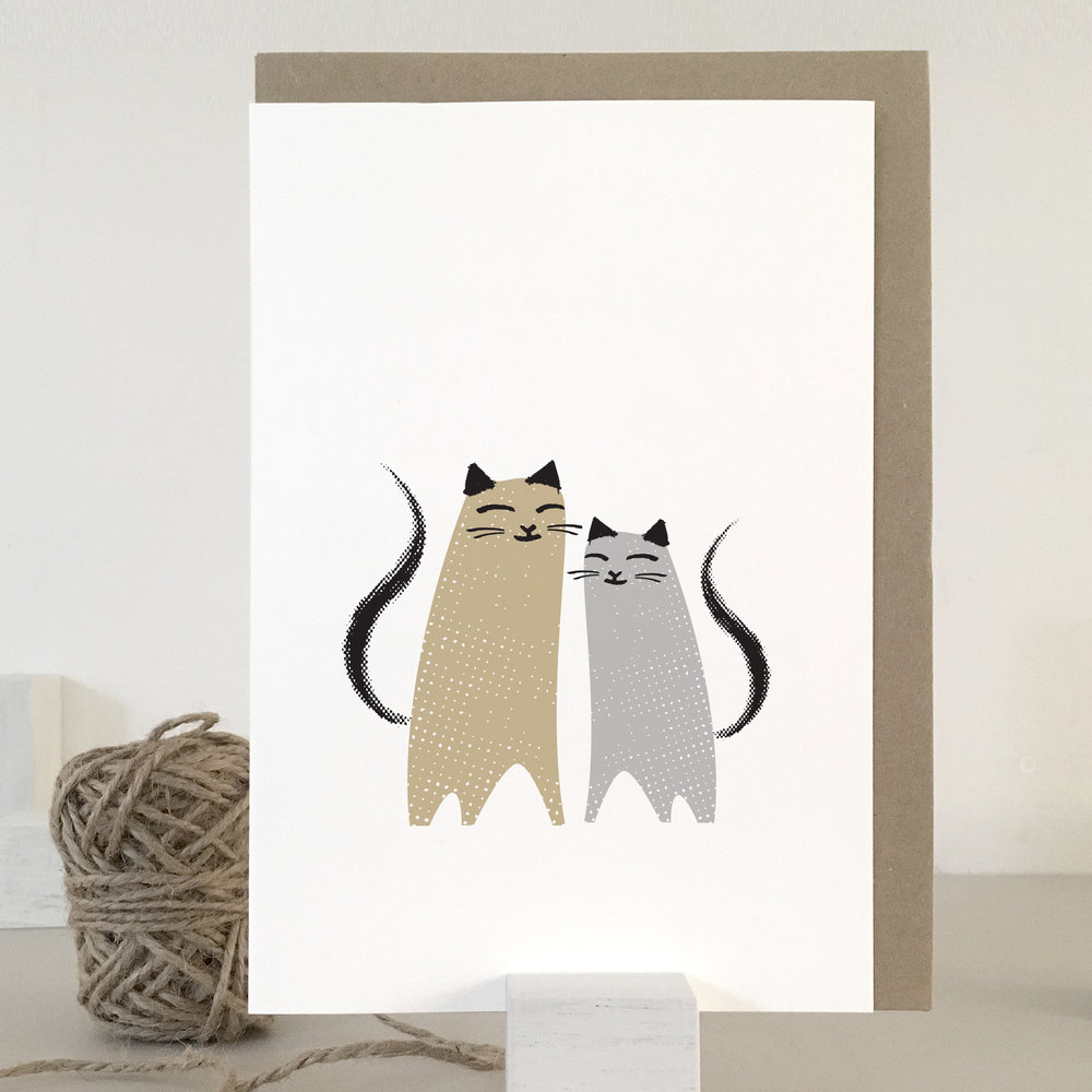 Love cats card: KC07