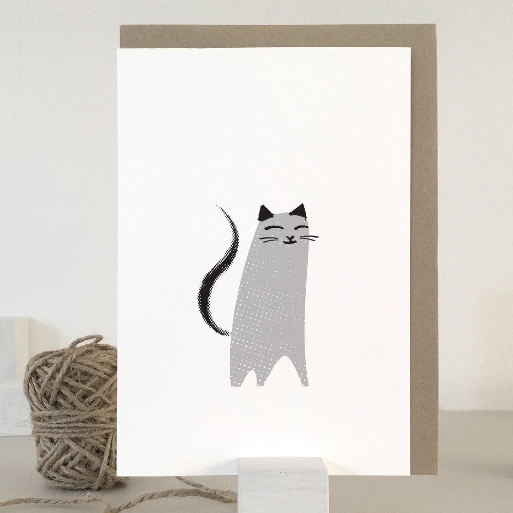 Happy cat card: KC09