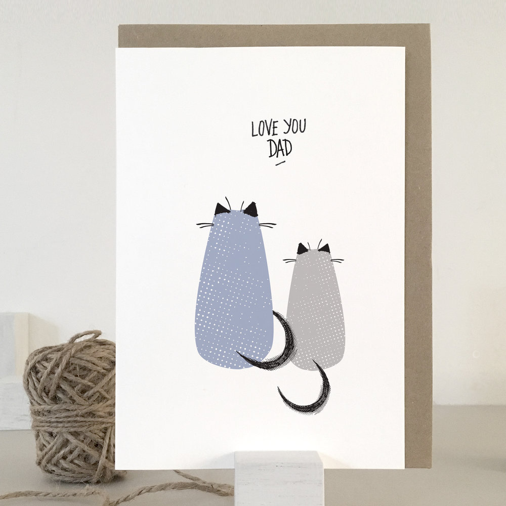 Love you dad cat card: KC16