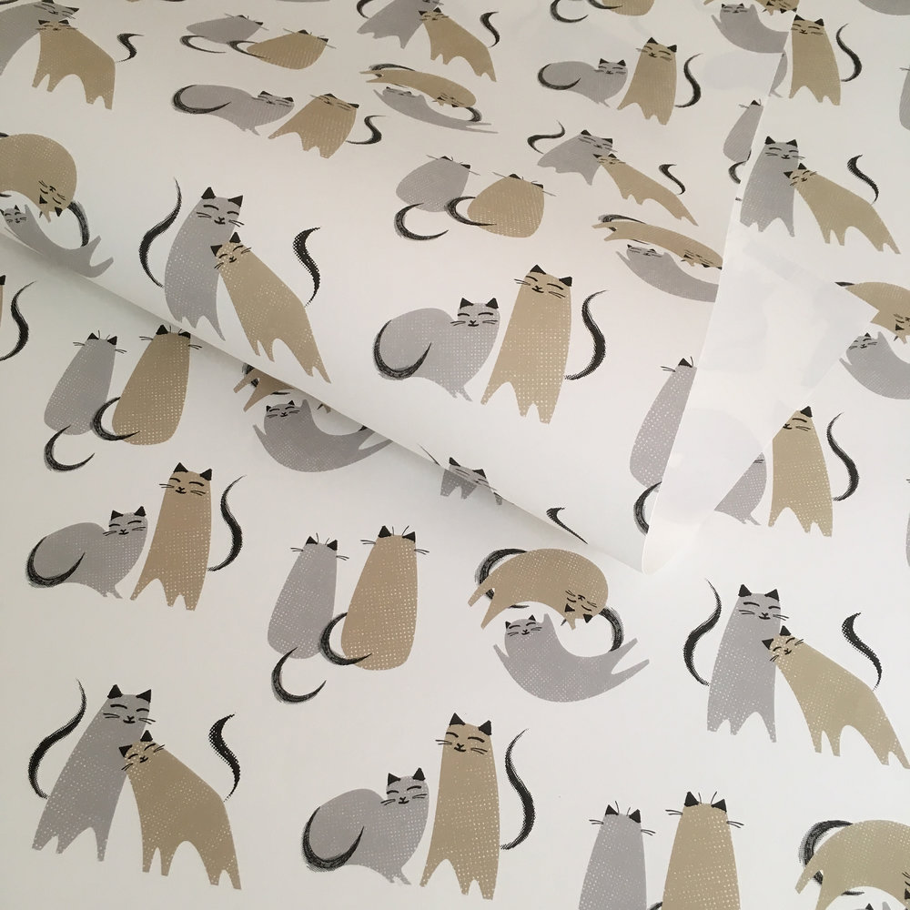 Love cats wrapping paper: WP_KCLC_03