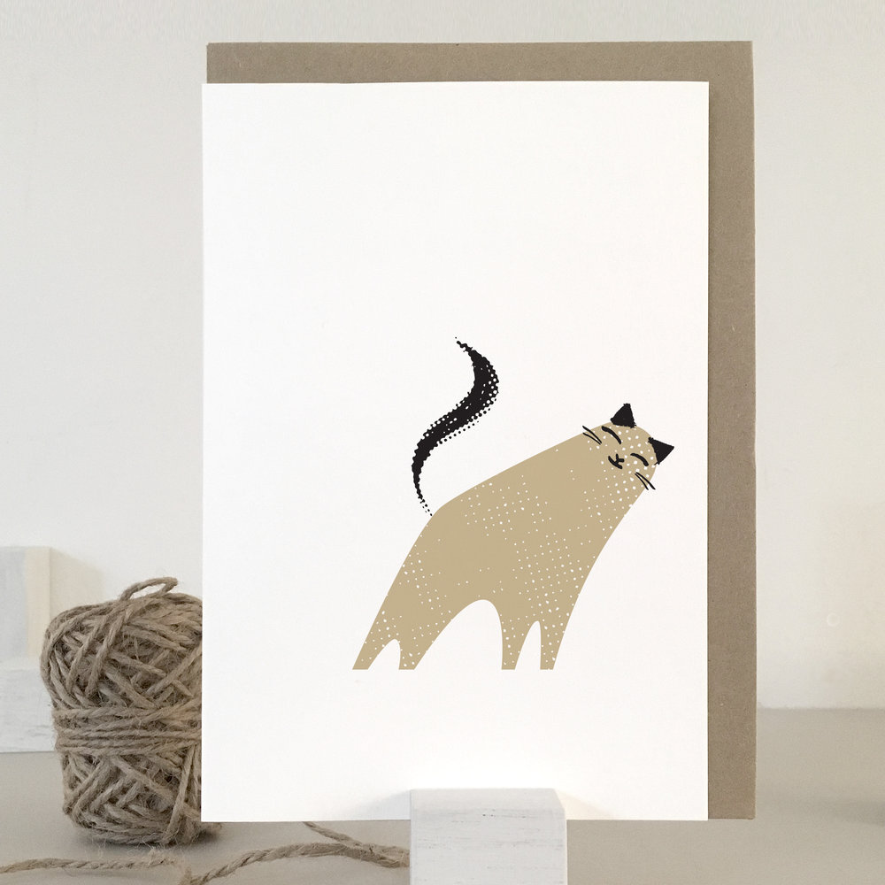 Playful cat card