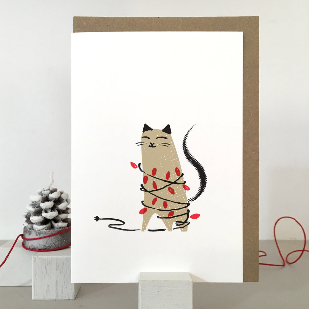 Christmas Cat card: KC25