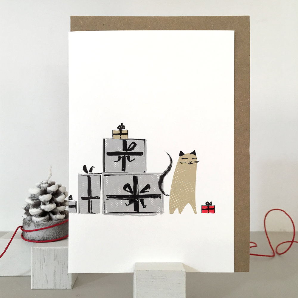 Christmas Cat card: KC28