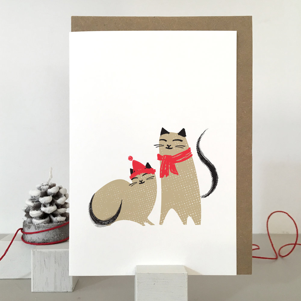 Christmas Cat card: KC26