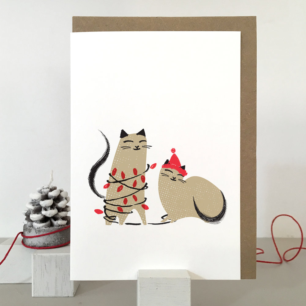 Cat christmas card: KC27