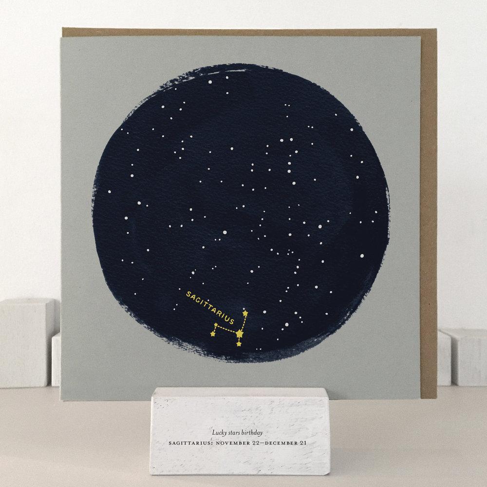 Sagittarius birthday card: XLSB09_sagittarius