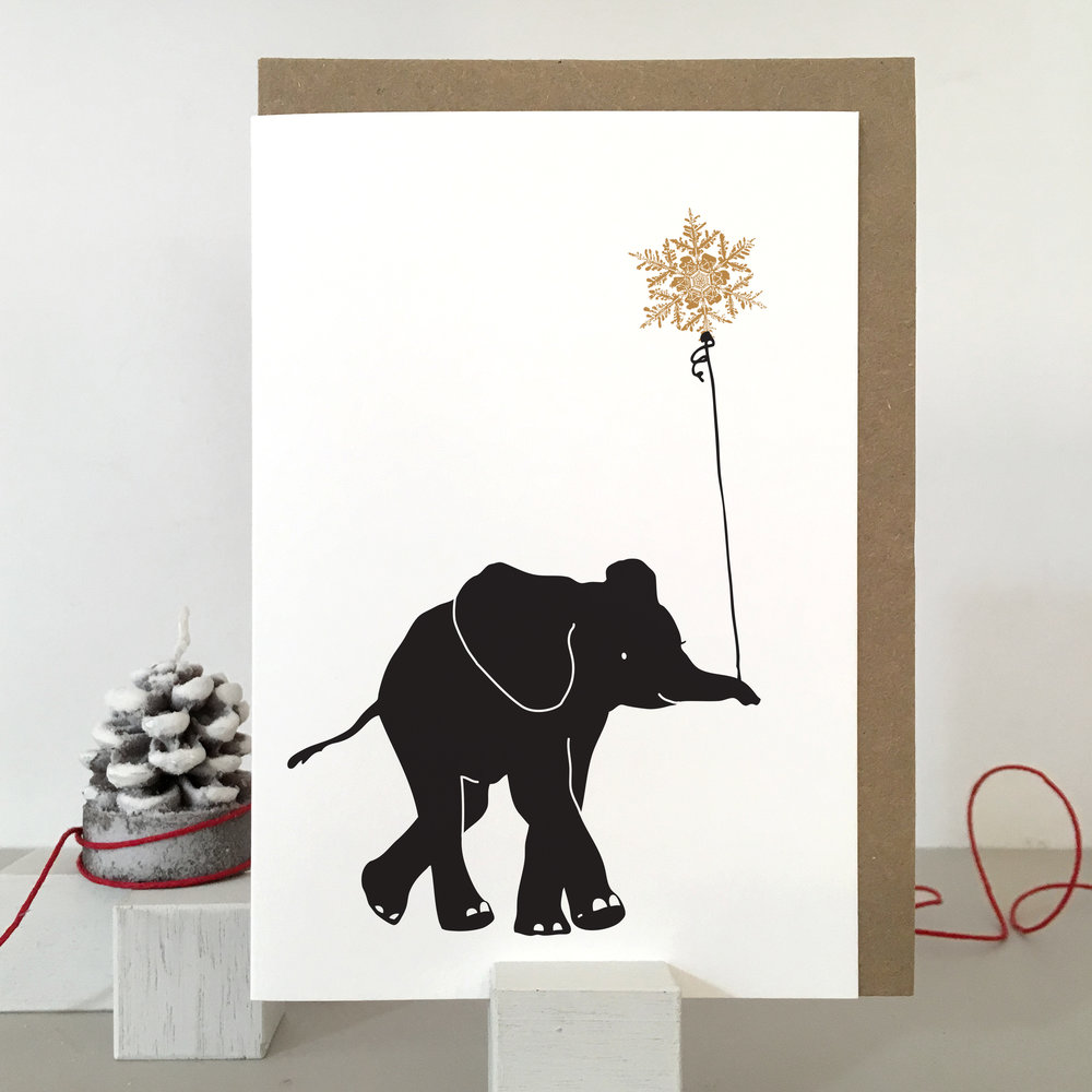 Elephant Christmas Card: SB05