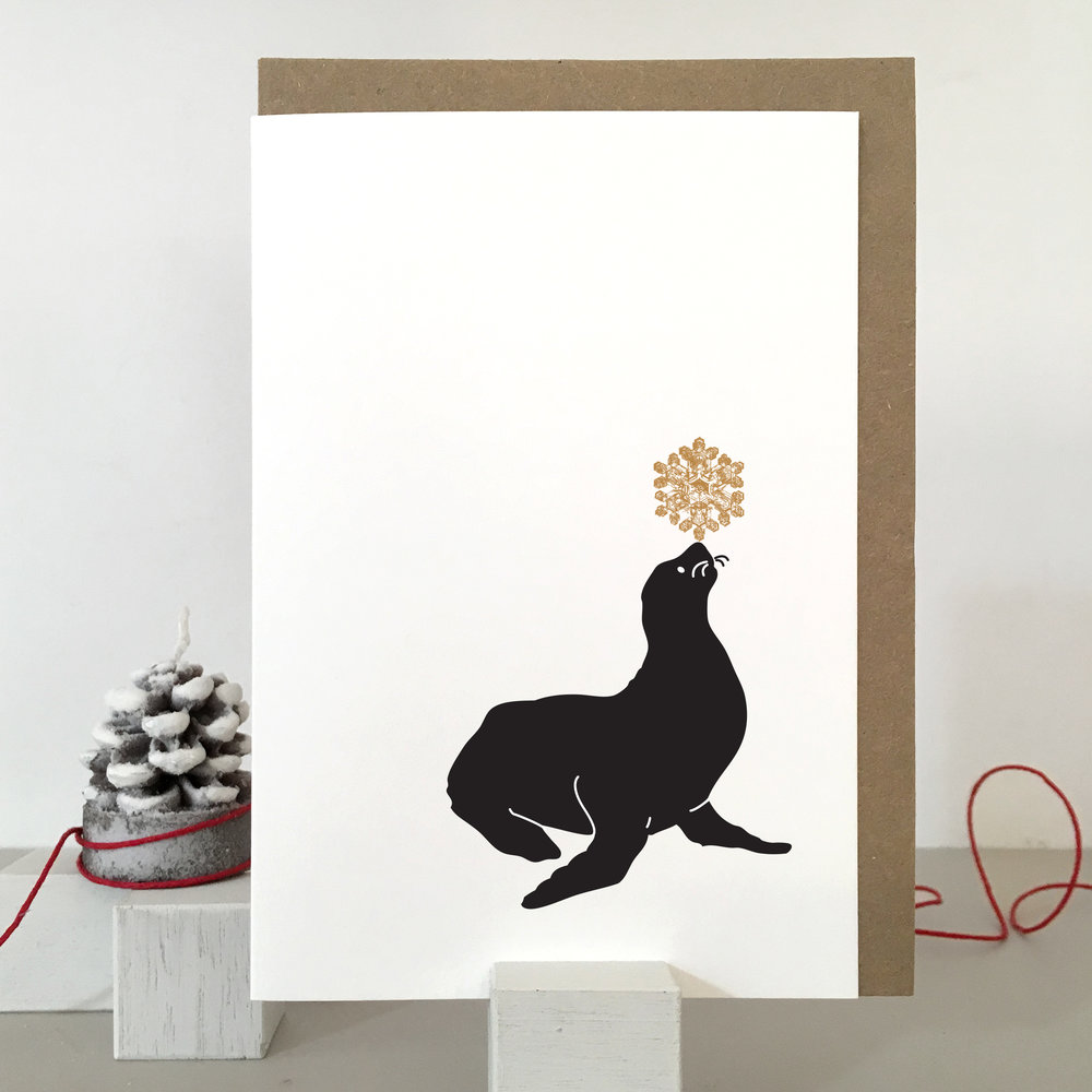 Seal Christmas Card: SB03_seal