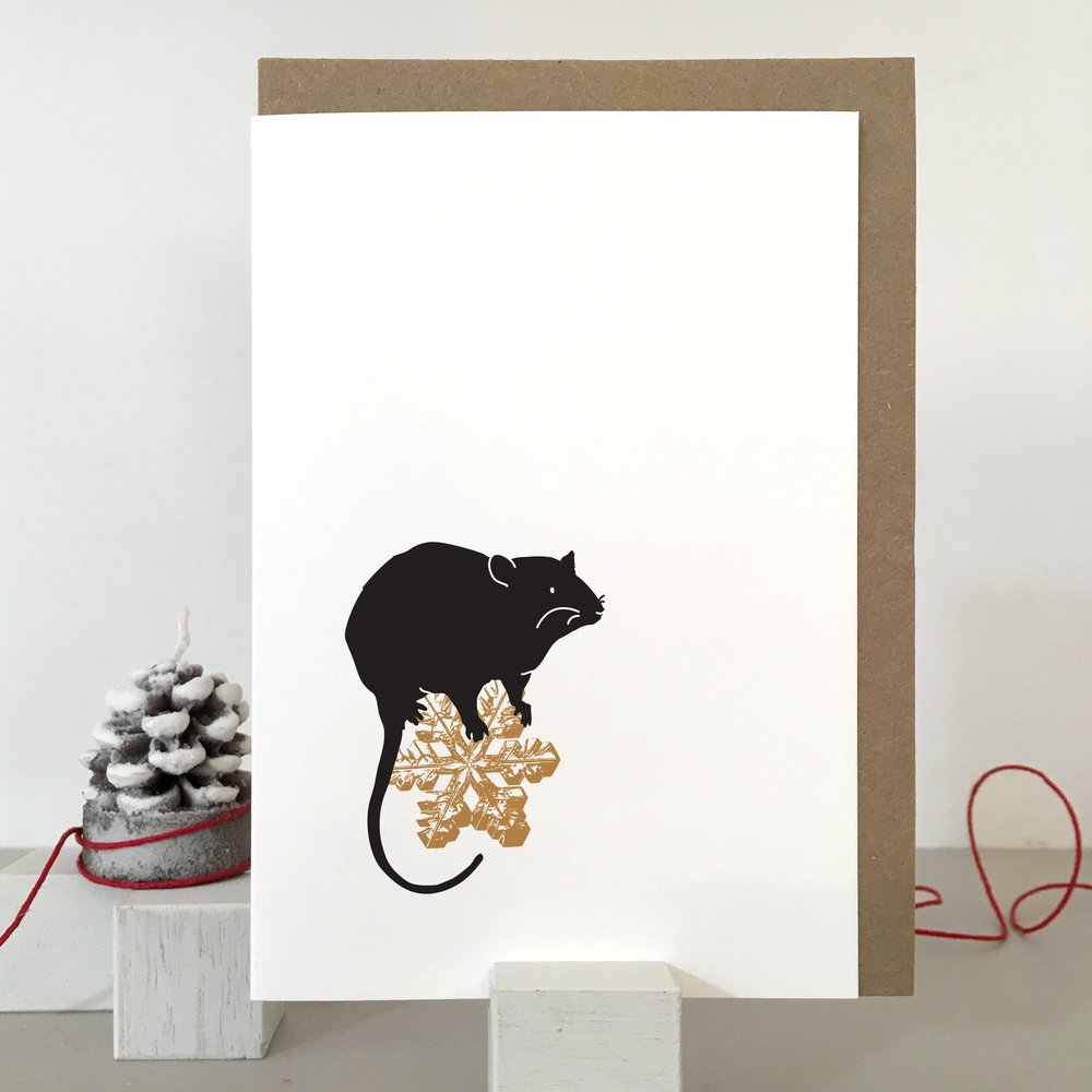 Rat Christmas Card: SB06_rat