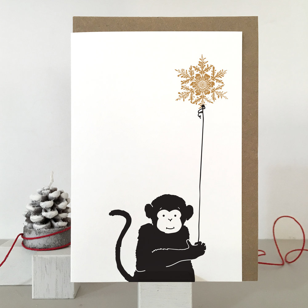 Monkey Christmas Card: SB07_monkey