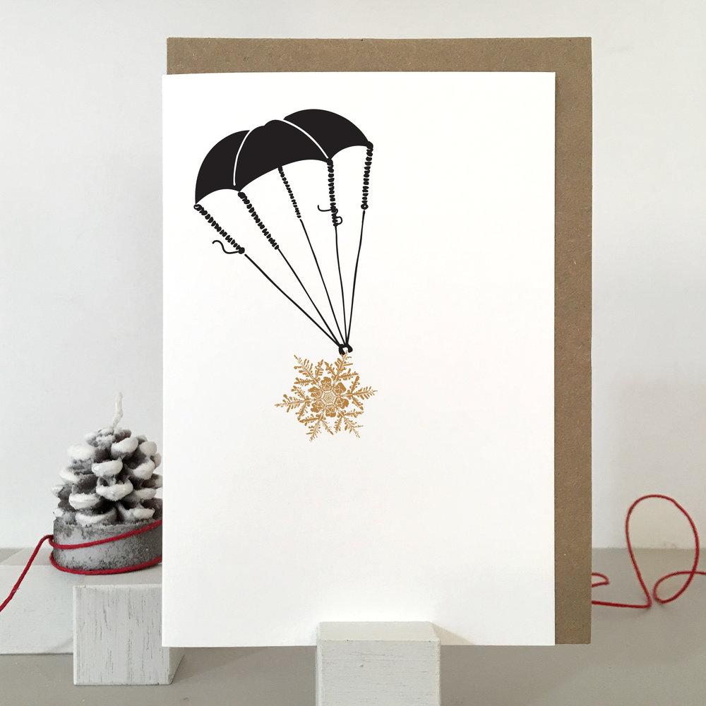 Parachute Christmas Card: SF01_parachute
