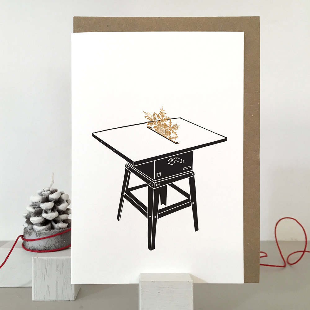 Woodworker Christmas Card: SF05_table saw