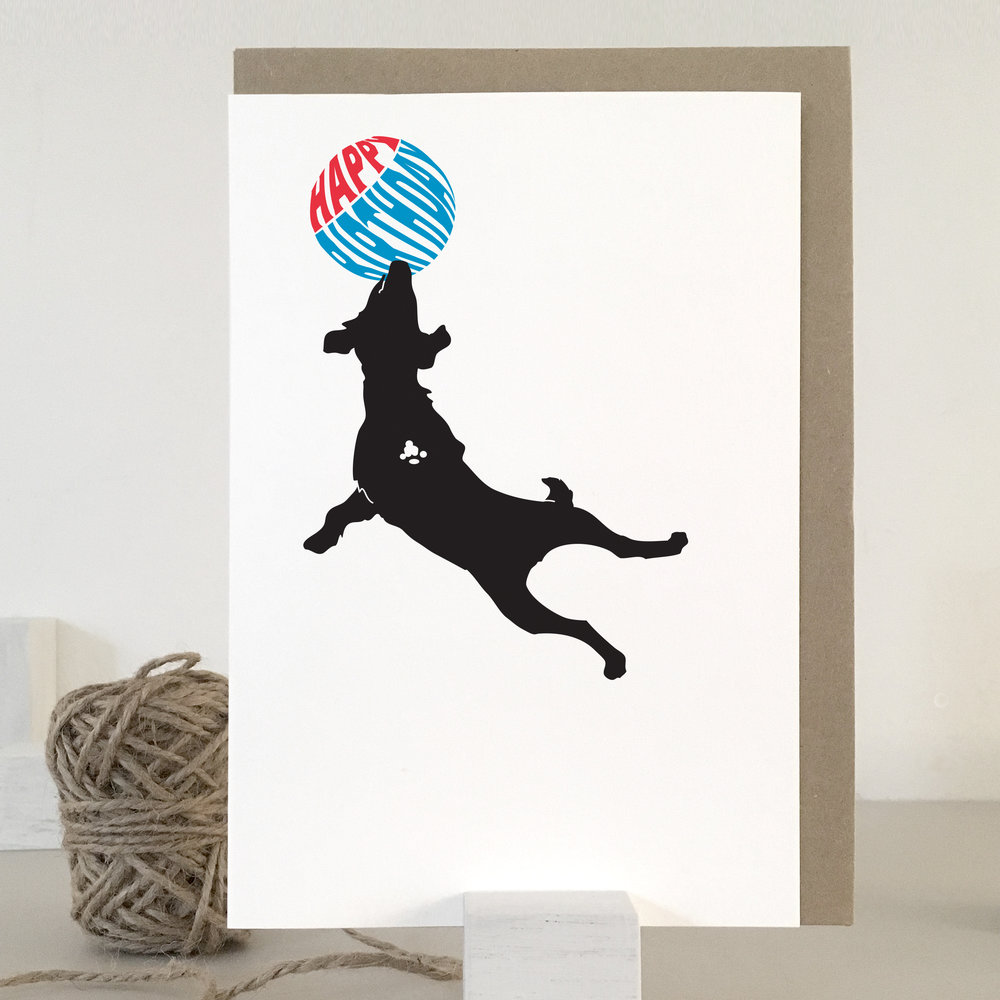 Dog birthday card: NBB02