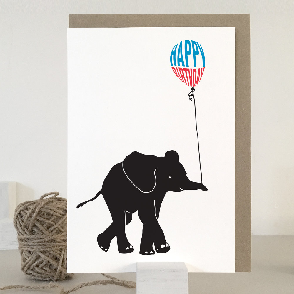 Elephant birthday card: NBB05