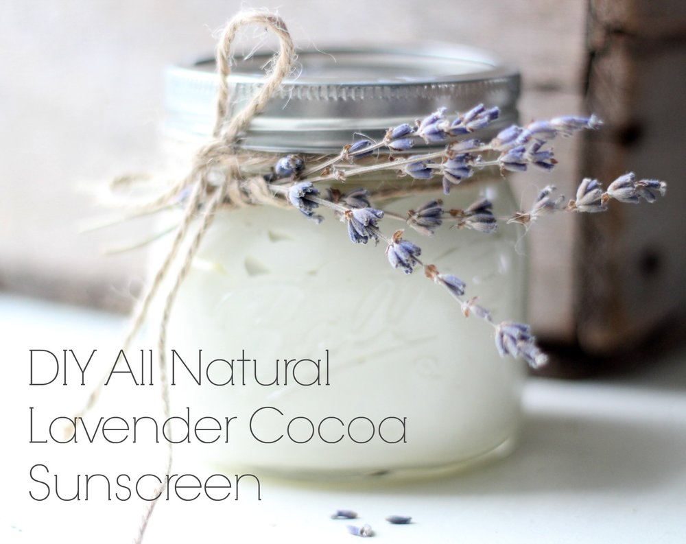 diy all natural lavender cocoa sunscreen