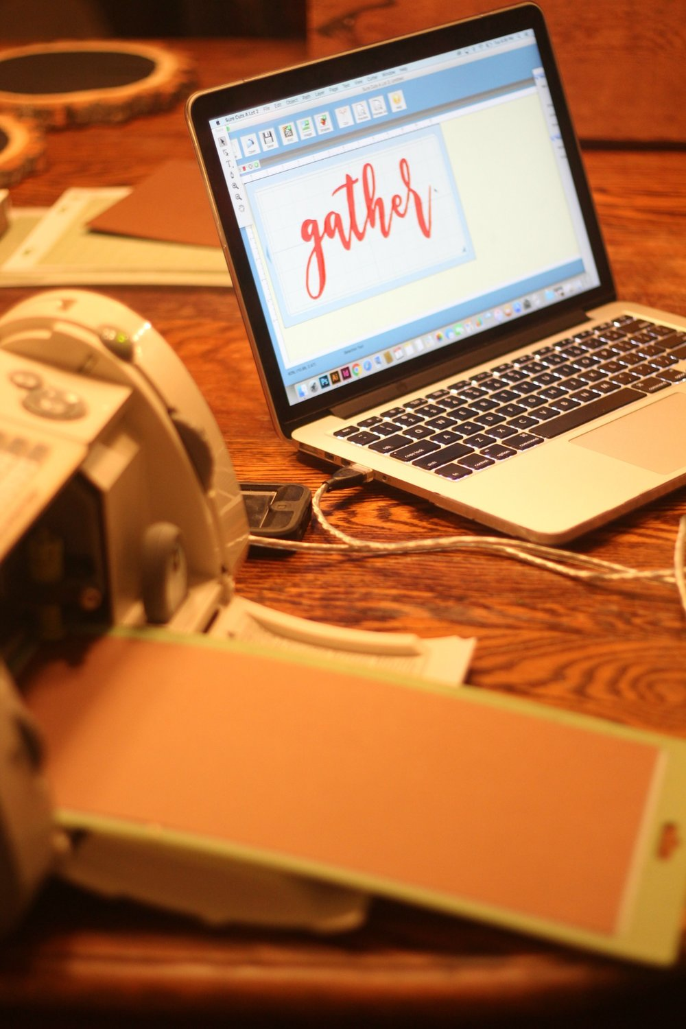 gather sign cricut