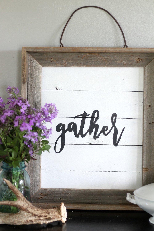 gather sign vignette