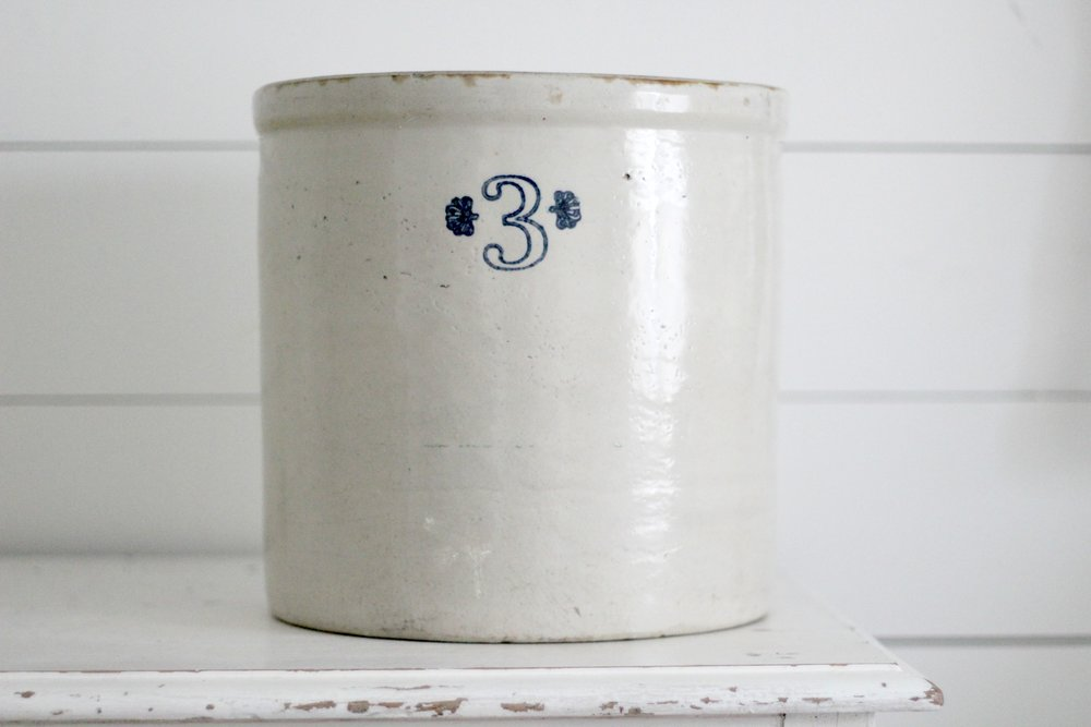three gallon antique crock