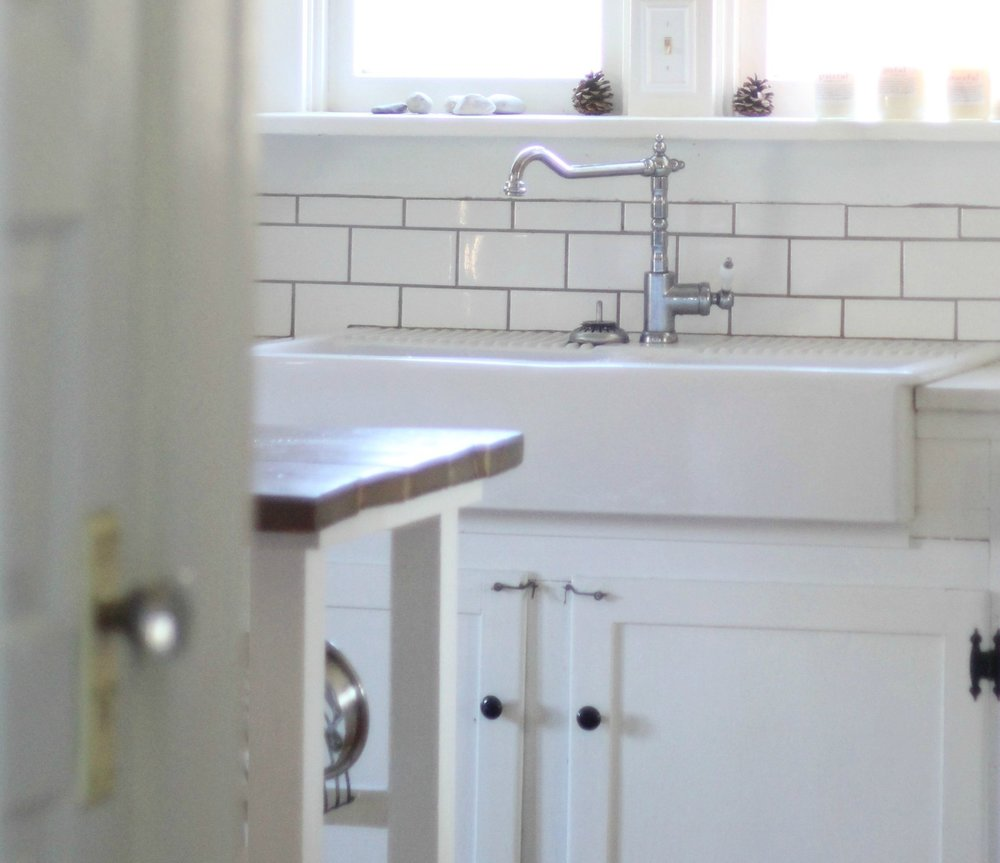 White apron front sink ikea - Our Experience With The Ikea Domsjo Double Bowl Farmhouse Sink Farmhouse On Boone