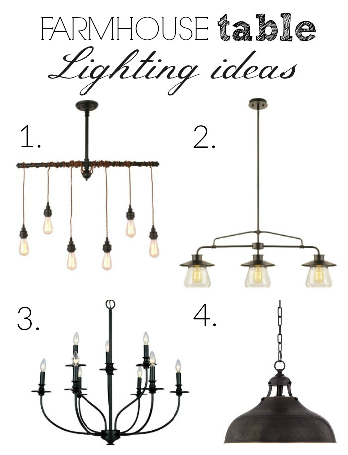 Farmhouse Table Lighting Ideas — Farmhouse on Boone