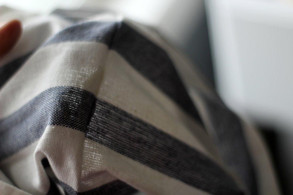 ikea towel diy pillow stripes